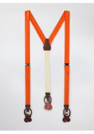 Persimmon Orange Fabric Suspenders