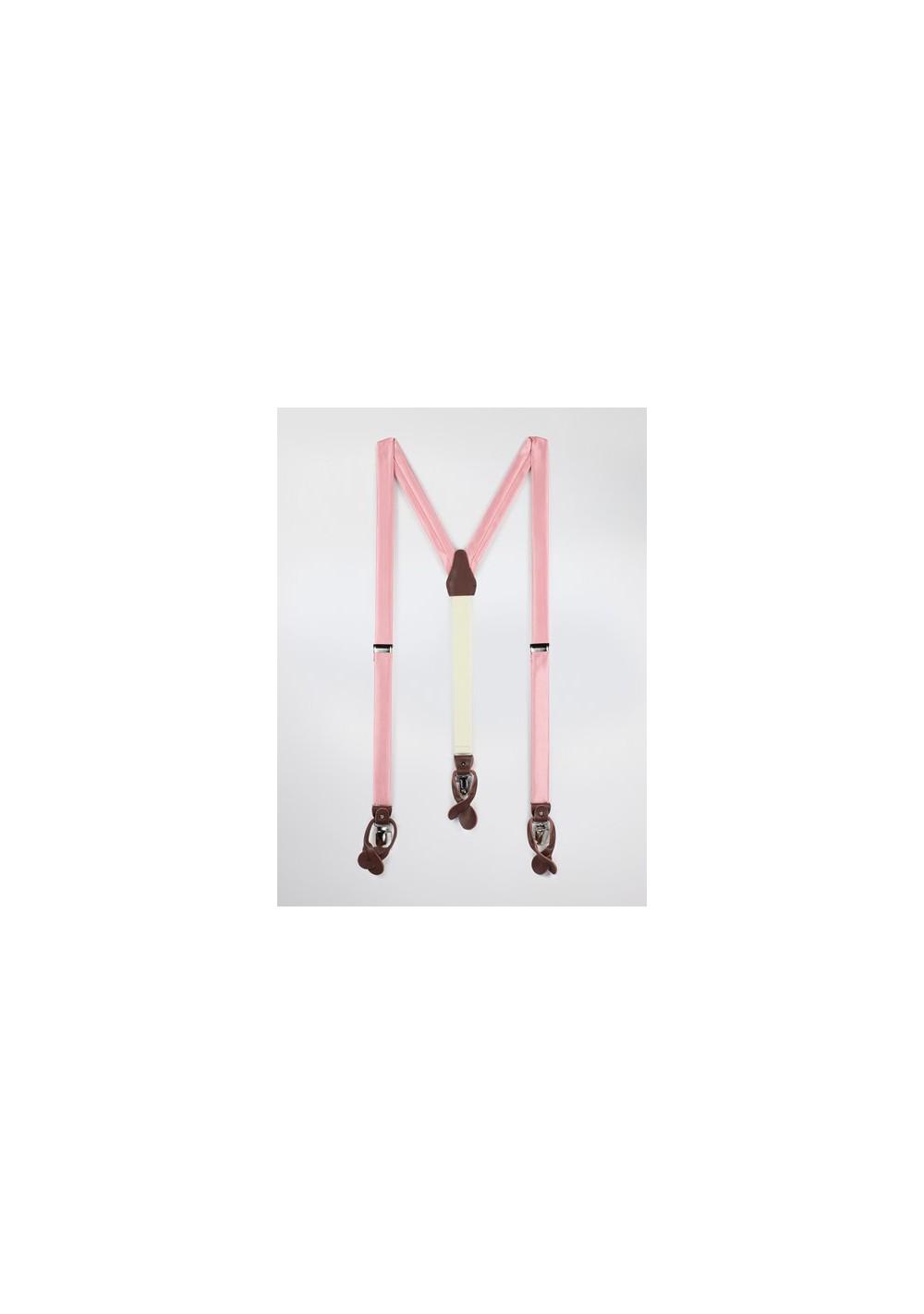 Petal Pink Fabric Suspenders