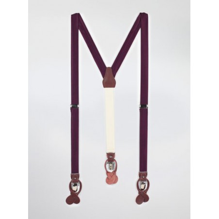 Plum Purple Mens Suspenders