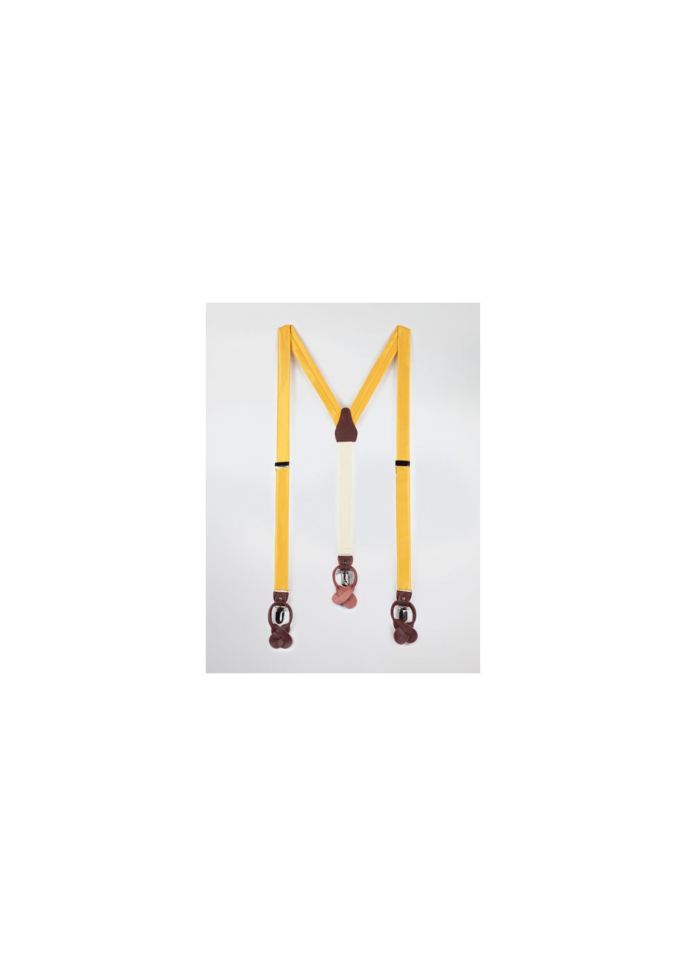 Solid Yellow Colored Mens Suspenders