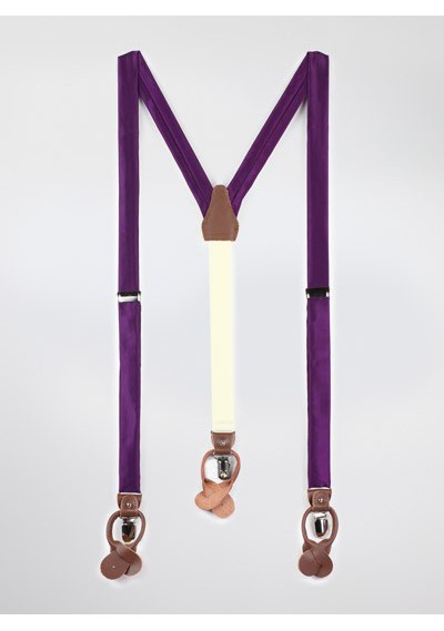Bright Purple Mens Suspenders
