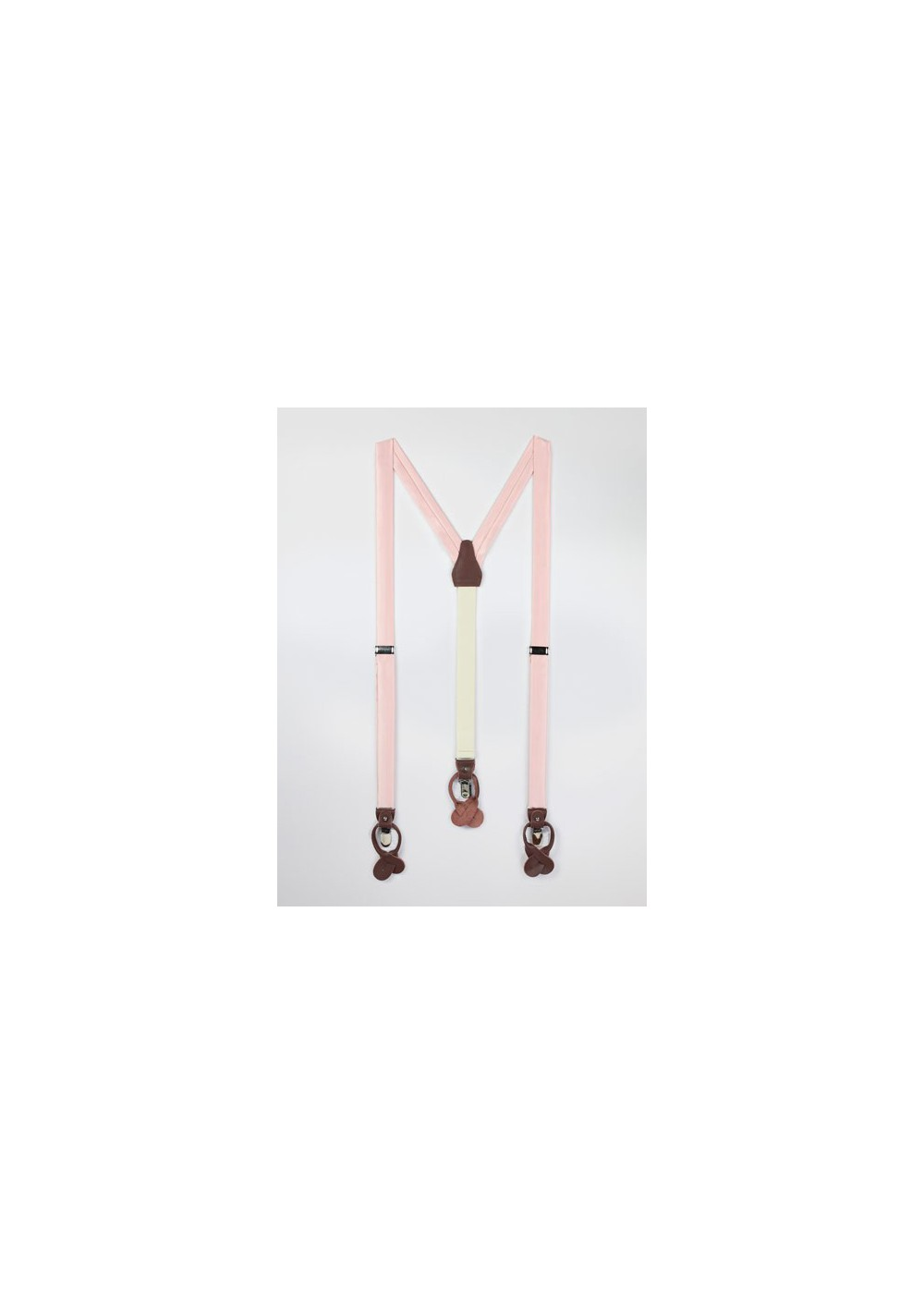 Suspenders in Peach Blush Pink