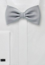 Kids Bow Tie in Formal Silver