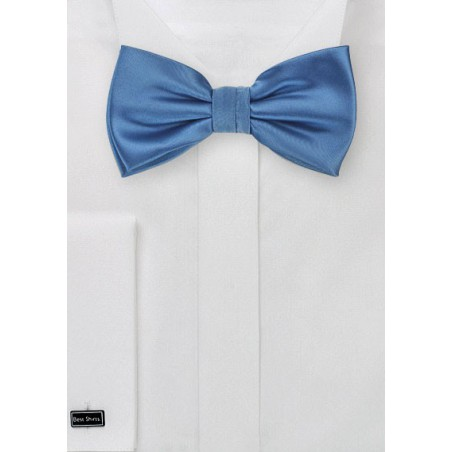 Steel Blue Mens Bow Tie