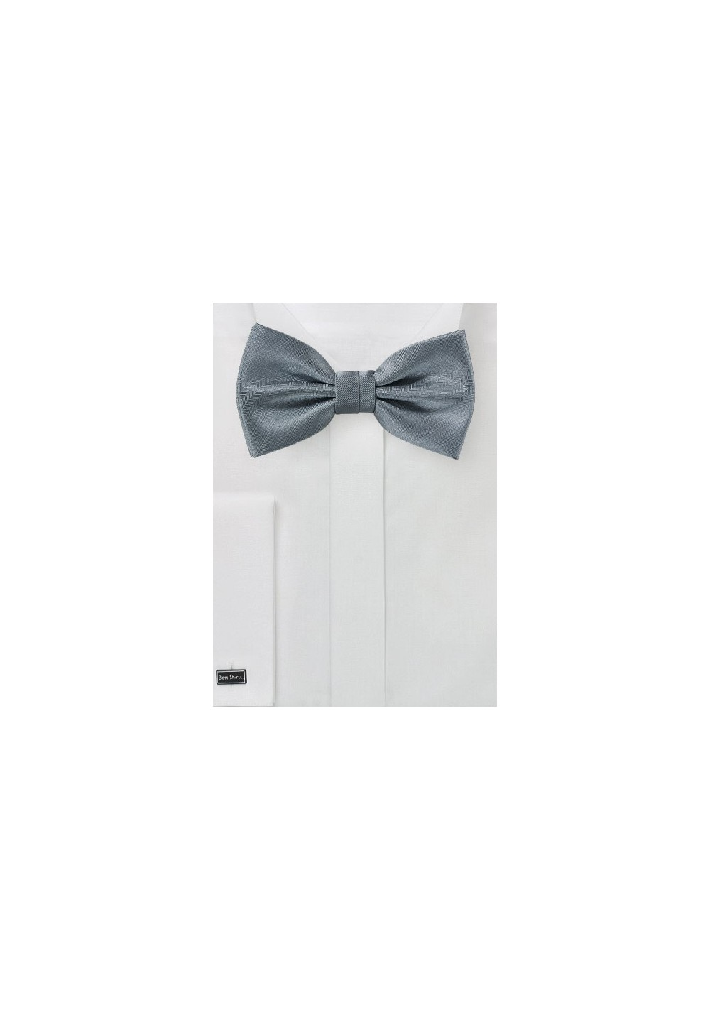 Elegant Bow Tie in Obsidian Gray