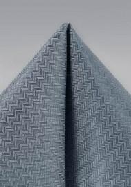 Obsidian Gray Pocket Square