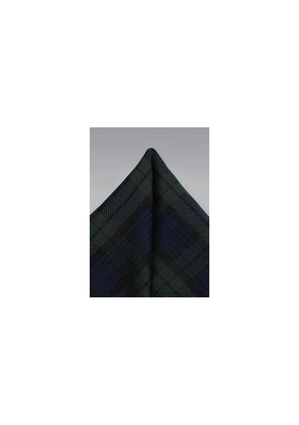 Tartan Plaid Hanky in Green and Blue