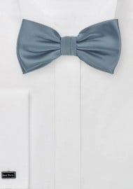 Dusty Blue Solid Bow Tie