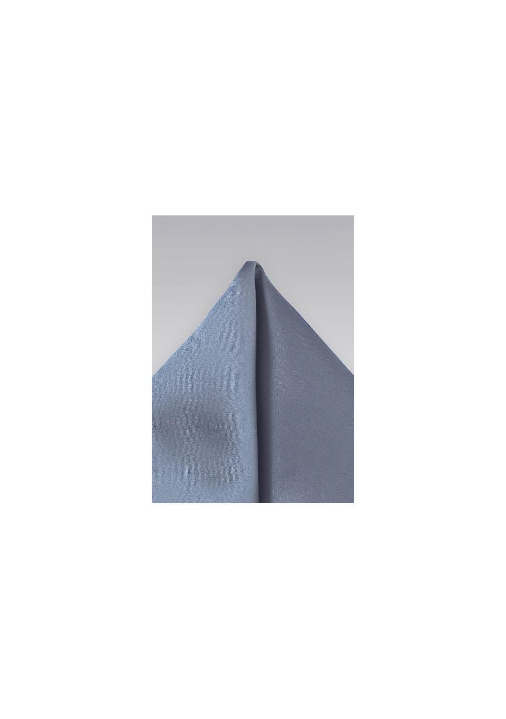 Slate Blue Pocket Square