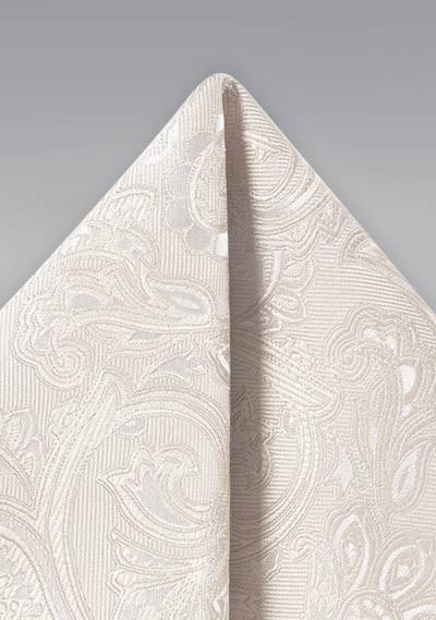 Ivory Woven Paisley Hanky
