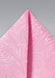 Carnation Pink Suit Hanky