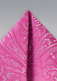Dragonfruit Pink Paisley Hanky
