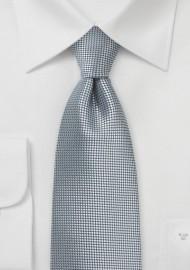 Extra Length Tie in Metallic Silver