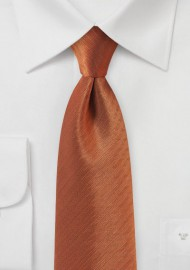 Burnt Orange Herringbone XL TIe
