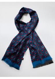 Luxury Oversized Silk Scarf in Retro Design