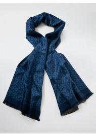 Finest Silk Scarf in Indigo Blue