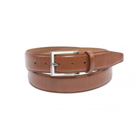 chocolate brown mens dress belt leather