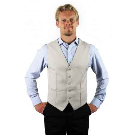 Dress vest for men in sand tan color