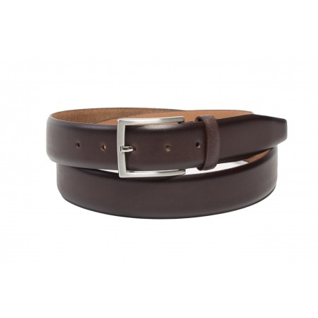 dark brown mens leather belt