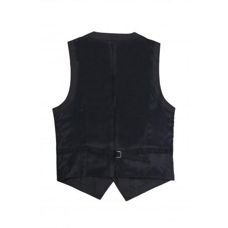 charcoal suit vest backside