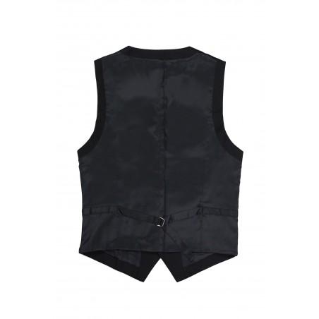 solid black suit vest