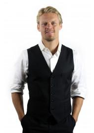 solid colored black dress vest