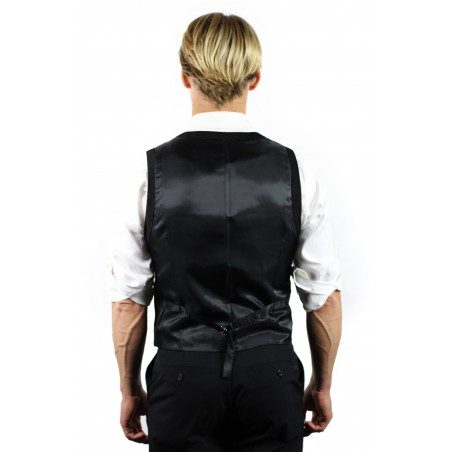 styled suit vest in black