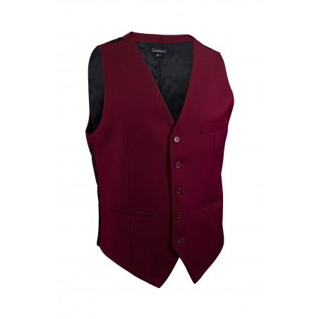burgundy red suit vest