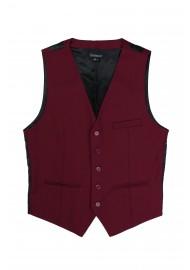 burgundy red dress vest