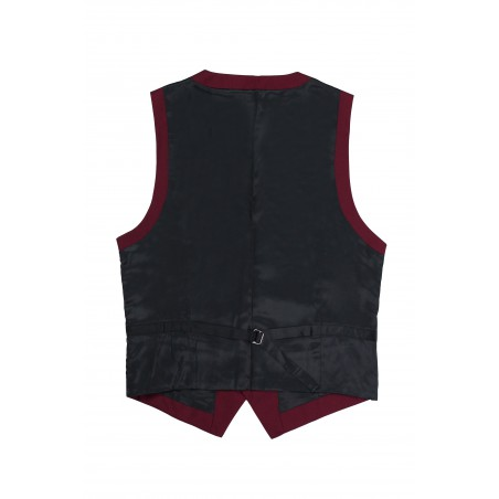 burgundy vest for men backside
