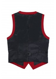 backside dress vest cherry red