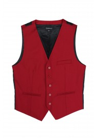 suit vest in cherry