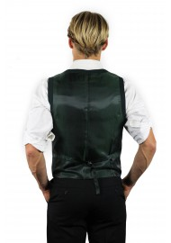 styled mens vest in green