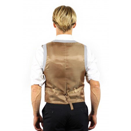 gold backside on vest