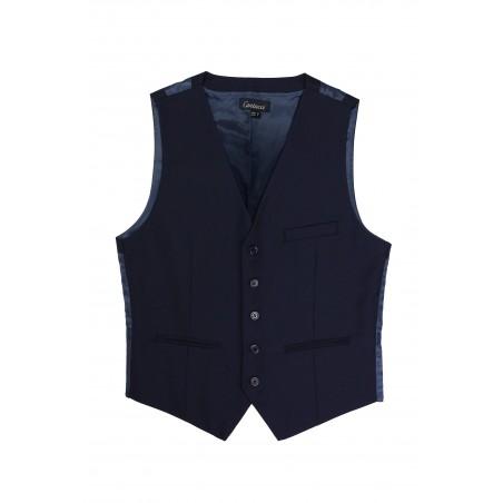 dark navy suit vest