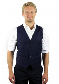 styled vest midnight blue