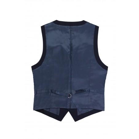 dark navy suit vest for him