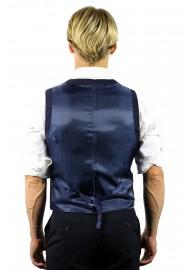 suit vest dark navy
