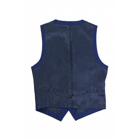 backside mens vest blue
