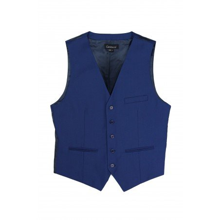indigo color mens vest