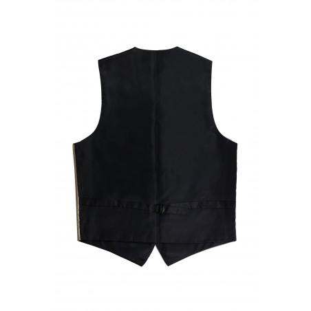 formal golden champagne mens suit vest