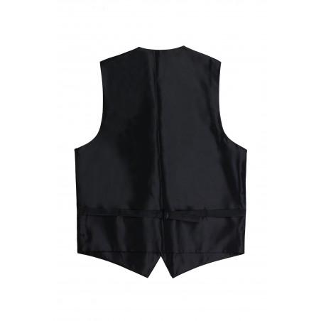 formal black vest tux back