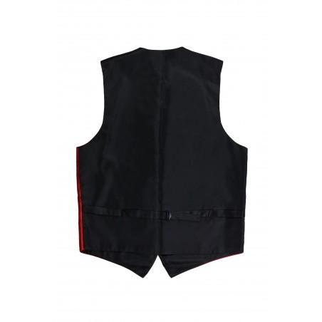formal mens dress vest cherry red backside