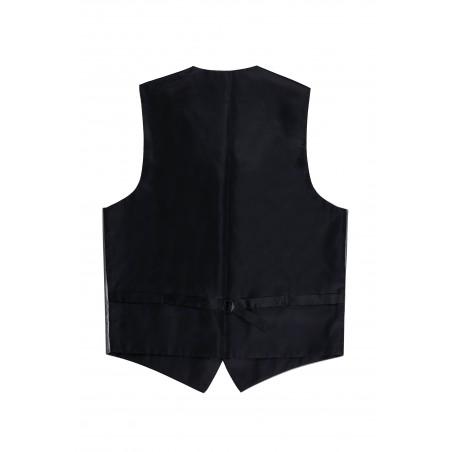 formal vest shiny silver gray backside