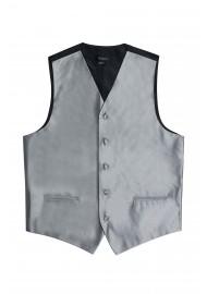 shiny silver tuxedo vest