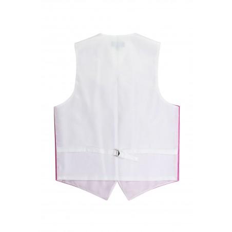 magenta pink menswear vest