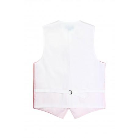 mens formalwear vest in coral pink