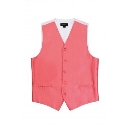 Coral colored mens wedding vest