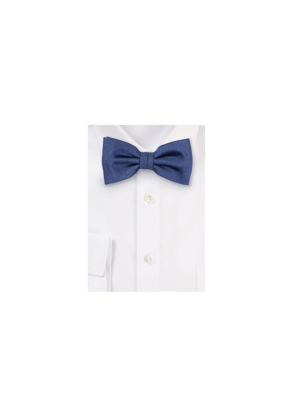 Heather Slate Blue Bow Tie