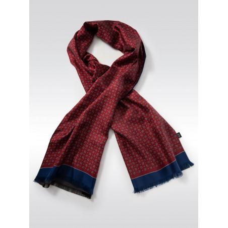 Elegant Mens Silk Scarf in Burgundy